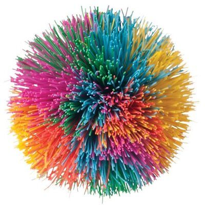 Rainbow Pom Stress Ball - 6 Pack