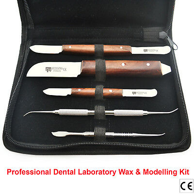 Laboratory Dental Wax Carving Tools Knives Plaster Alginate Mixing Knife + Pouch