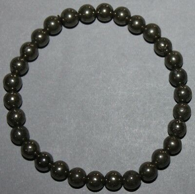 "Bracelet Pyrite 6 mm ""Large"""