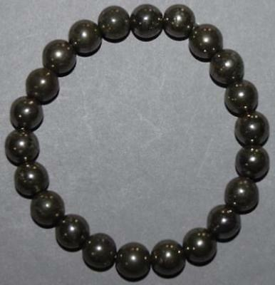 "Bracelet Pyrite 8 mm ""Large"""