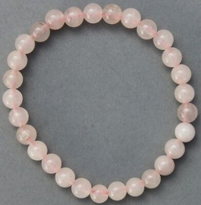 "Bracelet Quartz rose 6 mm ""Large"""