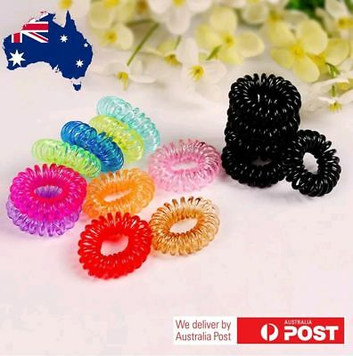 High Quality Elastic Telephone Wire Cord Head Ties Hair Band Rope Hairband