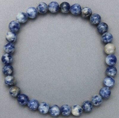 "Bracelet Sodalite 6 mm   ""Large"""