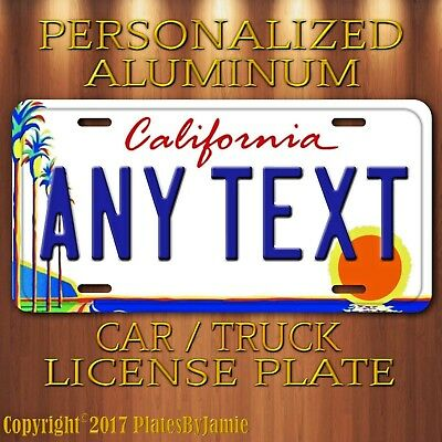 California Palm Trees ANY TEXT Your Personalized Text Aluminum License Plate Tag