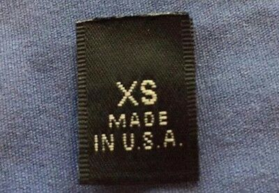 50Pcs Black Woven Clothing Size Tab Labels Made In U.S.A SIZE XL EXTRA LARGE