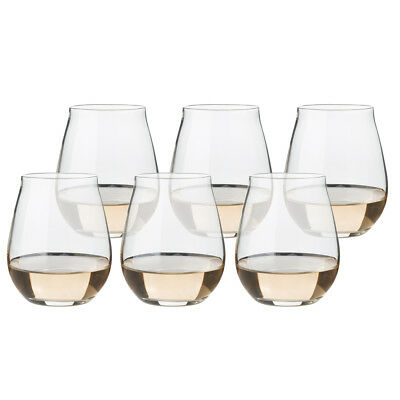 NEW Luigi Bormioli Vinea Stemless Wine Set 6pce