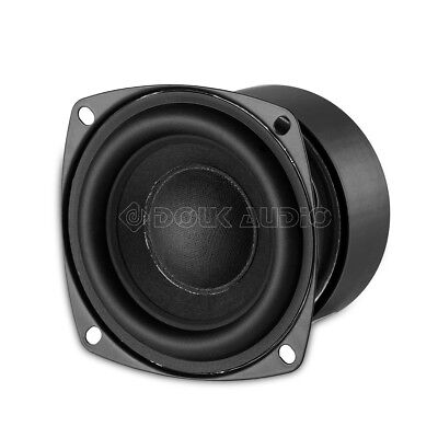 "3"" inch 25W HiFi Subwoofer Speaker Unit Square Bass Loudspeaker Home Audio 4Ω"