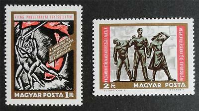 Hungary 1968 'Anniv of Hungarian Communist Party' SG2408/2409 Mint (MNH) Set