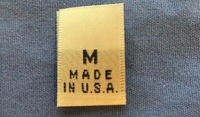 100Pcs Black Woven Clothing Size Tab Label Made In U.S.A Extra Small XS