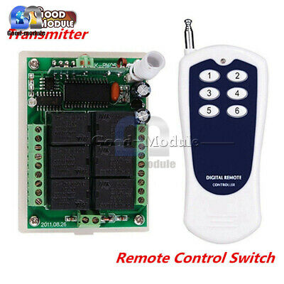 6CH/6 Channel 433MHZ RF Wireless Remote Control Transmitter & Receiver 12V DC