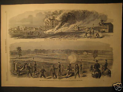 Battle of Champions Hill Theo Davis Engraving 1863
