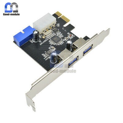 PCI EXPRESS USB 2 Ports 3 0 Front Panel with 4-Pin & 20 Pin Control Card  Adapter