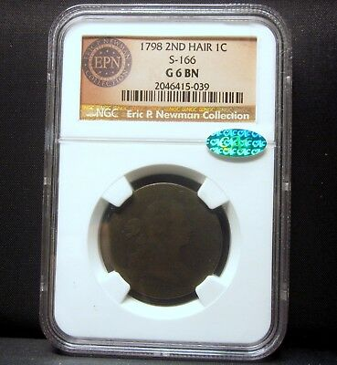 1798 Large Cent ✪ Ngc Good 6 Cac ✪ 1C Draped Bust G-6 2Nd Hair S-166 ◢Trusted◣