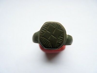 Byzantine  bronze ring Circa 14-15th century AD.