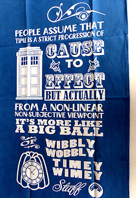 Doctor Who Pack Of 2 Superior 100% Cotton T Towels Top Quality!