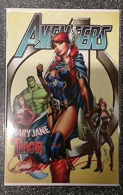 Avengers #8 Campbell Variant Signed COA