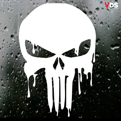 Punisher Blood Grunge Car/Laptop/Wall Art/Window Vinyl Decal Sticker White