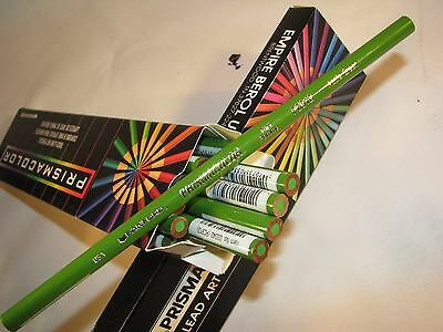 3 New Vintage Prismacolor Thick Colored Pencils #PC912 Apple Green