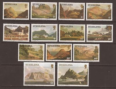 ST HELENA 1976 SG319b/331b Aquatints and Lithographs Set MNH (JB1581)