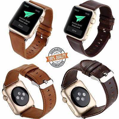New Genuine Leather Watch Strap Watch Band for iWatch Apple Watch Series 1/2