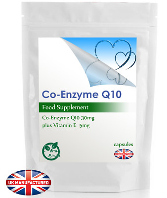 Strong Co-Enzyme Q10 30mg & Vitamin E Complex | 30/60/90/120/180 Capsules | UK