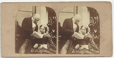 "Stereo Stereoview Genre ""The Announcement"" Mode 1850er"