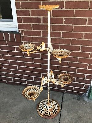 Antique Victorian Swing Arm Plant Stand / Plant Holder