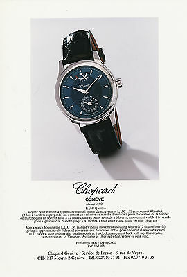 Chopard Pressefoto LUC Quattro watch Armband Uhr press photo GB F Foto