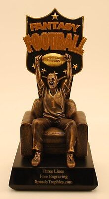 """Fantasy Football Trophy 10"""" Armchair  Qb - Free Engraving!!  - Ships In 1 Day!!"""