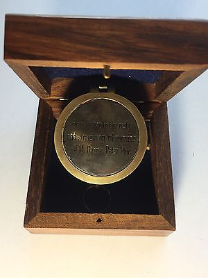 "JM Barrie Peter Pan Brass Compass ""SECOND STAR To The Right"". USA Seller!!!"
