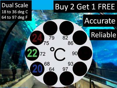 Reliable Lcd Stick On Adhesive Round Thermometer For Fish Tank Aquarium
