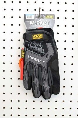 Mechanix Wear M-Pact Impact Protection Black / Grey Gloves (MPT-58-009, Medium)
