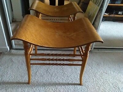 Antique Crocker Chair Co. Curved Foot Stool Birdseye Maple RARE San Diego, CA