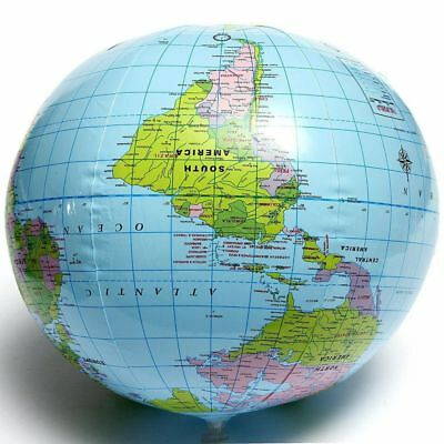 Geography Educational 16 Inch Beach Ball PVC World Map Globe Toys Inflatable