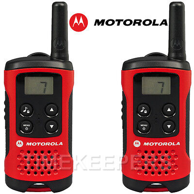 4Km Motorola TLKR T40 Walkie Talkie 2 Two Way PMR 446 Compact Radio Twin Set