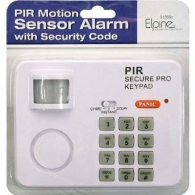 Wireless Motion Sensor Alarm With Security Keypad Pir Home Garage Shed Caravan