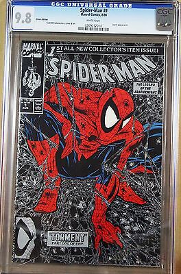 Spider-Man # 1 8/90 Silver Edition Cgc 9.8 - Appearance By Lizard