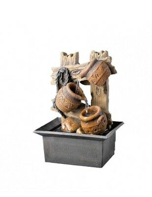 Three Mini Pots small indoor / Outdoor table top Water fountain water feature