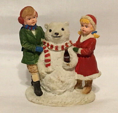 Coca Cola Town Square Collection Christmas Figurine 1994 Snowbear