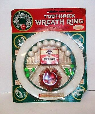 vintage1940s1950smake your own toothpick wreathnever