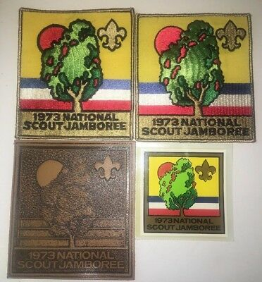 Vintage Boy Scouts of America BSA 1973 National Scout Jamboree Patches, Sticker