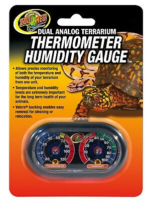 Zoo Med Dual Analog Terrarium Thermometer/Humidity Gauge