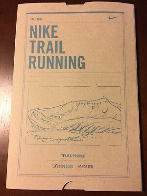 Nike Trail Running Team & Product Guidebook, Poster and sticker.