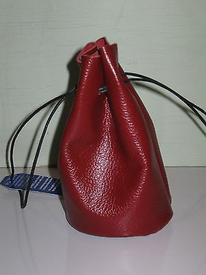 Fb-5 Scarlet  Flat Bottom Bag For Coins,gems Or Marbles Shipping Free In Usa