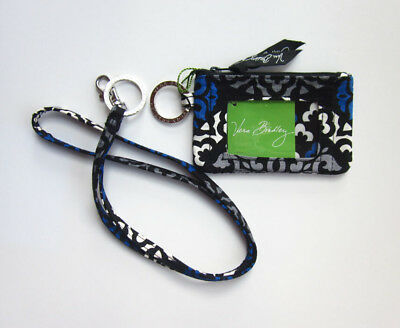 *New with tags*Vera Bradley Zip ID Case and Lanyard in Canterberry Cobalt