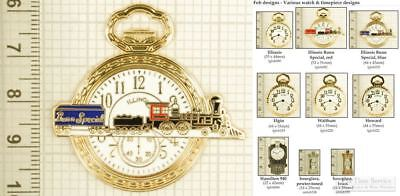 Pocket watch & timepiece fobs, various designs & leather strap options
