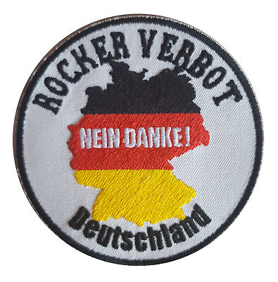 ROCKER VERBOT - NEIN DANKE MC Szene Patch...Nobody will destroy our Culture