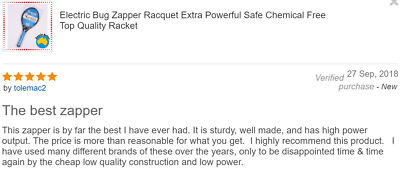 Electric Bug Zapper Racquet Extra Powerful Safe Chemical Free Top Quality Racket