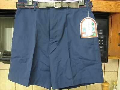 Weeds preppy nerd collegiate shorts with belt 1970s 1980s new with tag vintage
