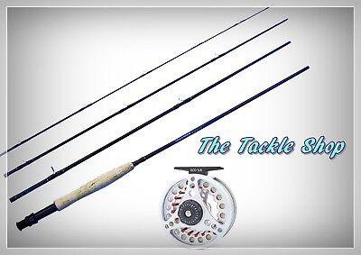 9Ft 5Wt Fly Fishing Combo Carbon Rod+Pre Spooled Alloy Large Arbor 5/6Wt Reel